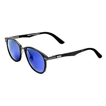 Rasse Cetus Aluminium und Kohlefaser polarisierte Sonnenbrille - Rotguss/blau