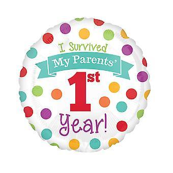 Anagram 18 Inch Babys 1st Year Foil Balloon