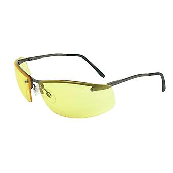 Howard Leight Uvex Óculos de rodagem, Metal Frame, Amber Anti-Fog Lens #R-01771