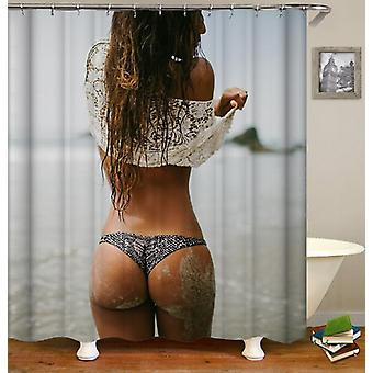 Sexy Chick On The Beach Shower Curtain