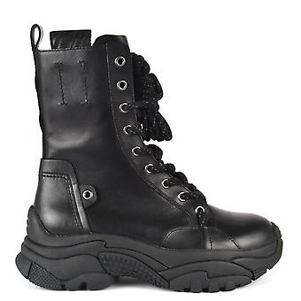 Ash ARMY Trainer Boots Black Leather
