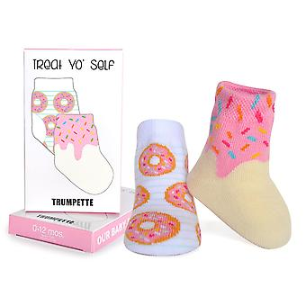 Socks - Trumpette - Donut - Assorted pastel Girls 1-pair 0-12M