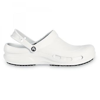 Crocs 10075 بيسترو Unisex العمل القباقيب الأبيض
