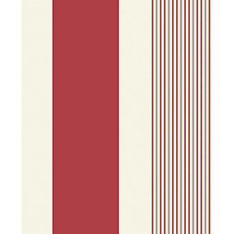 Akina Streifen Tapete strukturierte Vinyl rot Creme Streifen Glitter geprägt Holden