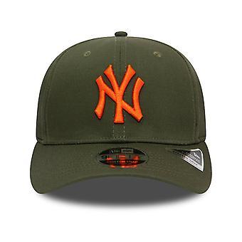 New Era Total Stretch Snap 9FIFTY Cap in New Olive/Orange glaze