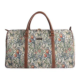 William morris - golden lily big travel holdall by signare tapestry / bhold-glily