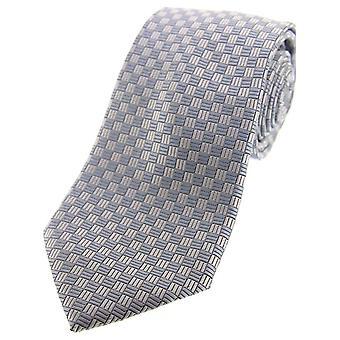 David van Hagen siisti Checker Board Polyesteri aamu tie-harmaa