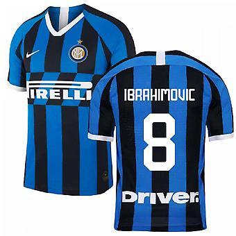 2019-2020 Inter Milan Home Nike Football Shirt (Kids) (IBRAHIMOVIC 8)