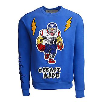 Top Gun Beast Mode Crewneck Sweatshirt Royal Blue