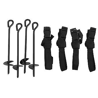 Trampoline Anchor Kit - Anchoring Tie Down Pegs, Stakes - 4 Metal Ground Anchors
