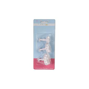 Cake Star Plunger Cutters - Carnation