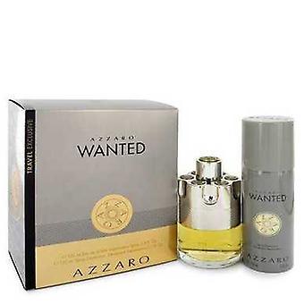 Azzaro Wanted by Azzaro gave sæt--3,4 oz Eau de Parfum Spray + 5,1 Oz Deodarant spray (mænd) V728-546225