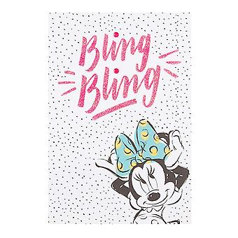 Hallmark Disney Minnie Mouse Bling Bling 10 X 15cm Birthday Card With Nail Stickers 25479540