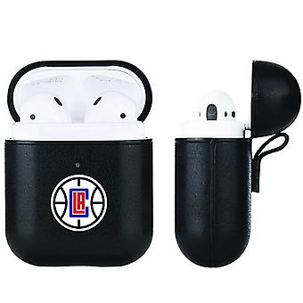 Los Angeles Clippers NBA Fan Brander Zwart Lederen AirPod Case