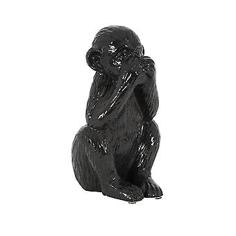 Light & Living Ornament 16.5x13.5x29cm Monkey Silence-Shiny Black