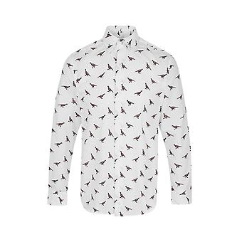 JSS Pheasant Print Regular Fit 100% Cotton Shirt