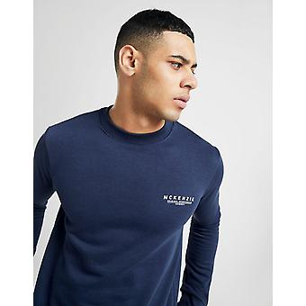 New McKenzie Men's Essential Crew Neck Sweatshirt Blue