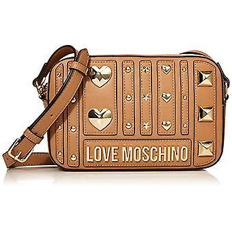 Love Moschino Pu Women's Beige Cross-body bag (Camel) 15x23x6 cm (W x H x L)
