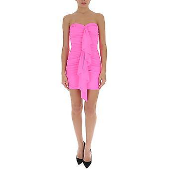 Amen Ams20434073 Kvinnor's Rosa polyesterklänning