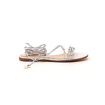Gianvito Rossi G3170305cuonapbian Women's White Leather Sandals