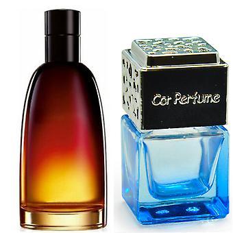 Christian Dior Fahrenheit For Him Inspired Fragrance 8ml Blue Bottle Chrome Lid Car Air Freshener Vent Clip