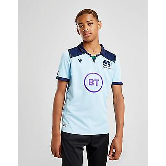 New Macron Boys' Scotland RU 2019 Away Short Sleeve Shirt Blue