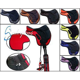 Galequus Treeless chair 17  Black-Green Lima (Horses , Saddle , Saddles , March and raid)