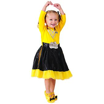 Emma Deluxe The Wiggles Yellow Dress Book Week Toddler Girls Costume 18-36M