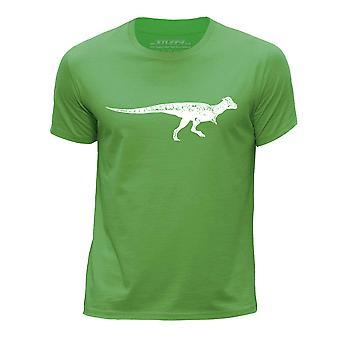 STUFF4 Boy's Round Neck T-Shirt/Dinosaur/Pachycephalosaurus/Green