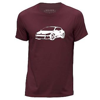 STUFF4 גברים ' s צוואר עגול חולצה/שבלונה רכב/הסטנסיל/שירוקו R/בורגונדי