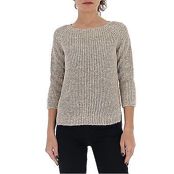 Gentry Portofino D615gtg0444 Women's Grey Cotton Sweater