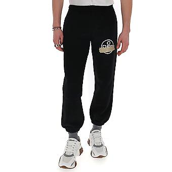 Off-white Omch022r20e300021048 Men's Black Cotton Joggers