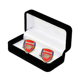 Arsenal FC Official Football Crest Metal Cufflinks
