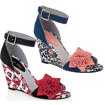 Ruby Shoo Femmes apos;s Sky Fabric Wedge Sandals