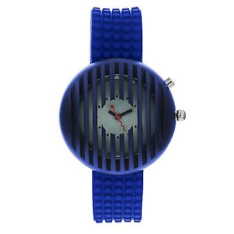 Kool Time Ladies Asteroid Starlight White Dial, Backlight & Blue Silicone Strap Fashion Watch KT20