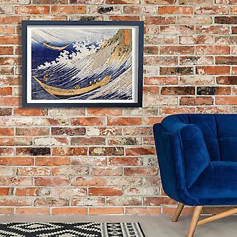 Katsushika Hokusai - oceano ondas Poster Print Giclée