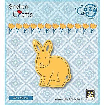 Nellie's Choice Cozy dies Rabbit SCCOD014 40x55mm (10-19)