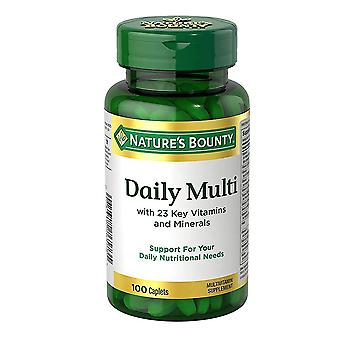 Nature's bounty daily multi, caplets, 100 ea