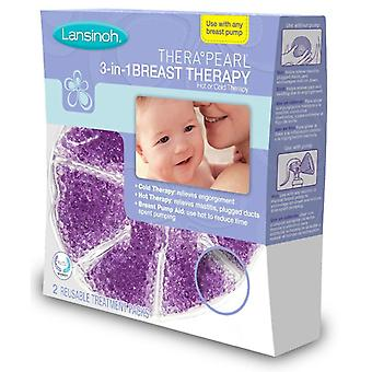 Lansinoh therapearl 3-in-1 breast therapy, reusable pack, 2 ea