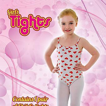 Childs Tights White 7/10 Med