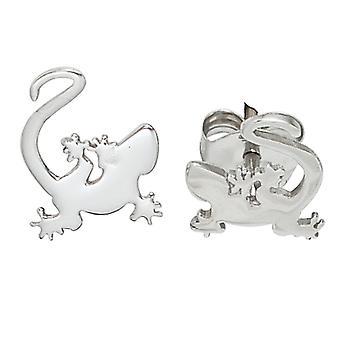 أطفال مسمار الأقراط gecko 925 الاسترليني الفضة مطلية الروديوم أقراط الأطفال