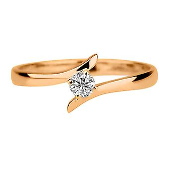 Moissanite Ring Forever One 0.50 CT 5.00MM 14K Rose GoldUnique Twist Round