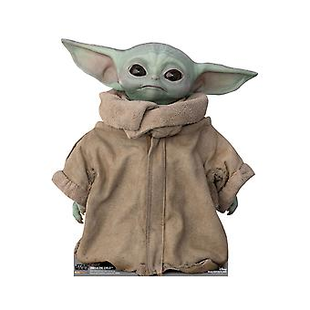 The Child (Baby Yoda) Head Tilting Right Official Mandalorian Cardboard Cutout