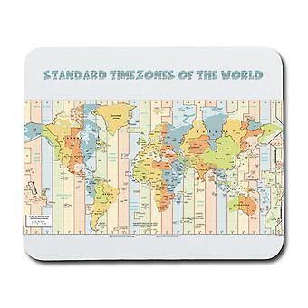 World Time Zones Map Mouse Pad
