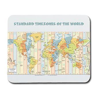 Maailman aikavyöhykkeet Kartta Hiirimatto