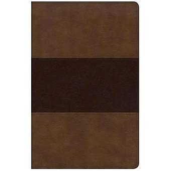 KJV Large Print Personal Size Reference Bible - Saddle Brown Leathert