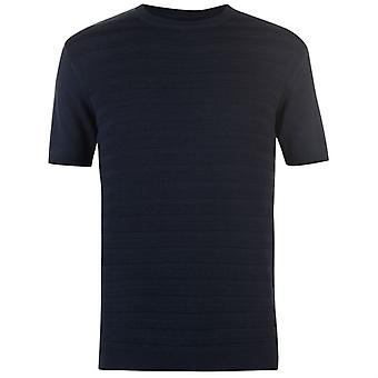 Barril de pólvora Mens malha T camisa gola Tee superior manga curta algodão texturizado