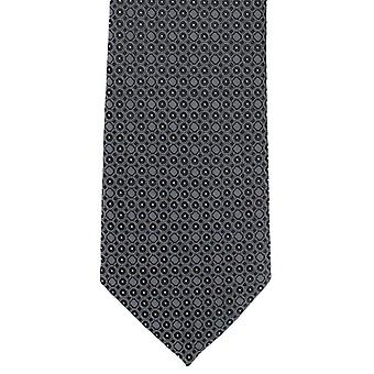 Michelsons Londyn geometrycznej koło krawat poliestrowy - czarny