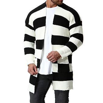 Cloudstyle Men's Cardigan Cotton Striped Colorbloaked Casual Knitwear