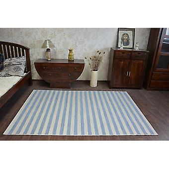 Rug DOUBLE 29203/035 STRIPES blue/beige double-sided